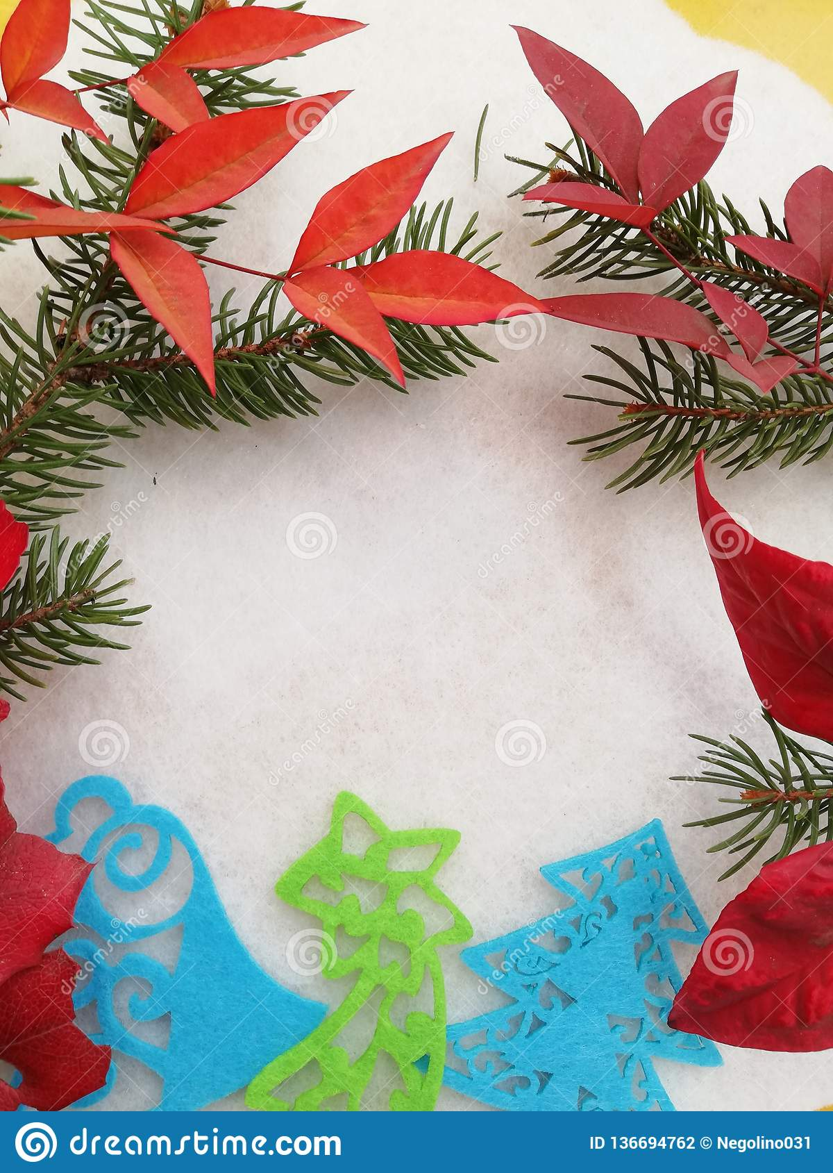 Auguri Di Buon Natale Merry Christmas.Elegant Greeting Card For Winter Holiday Stock Photo Image Of