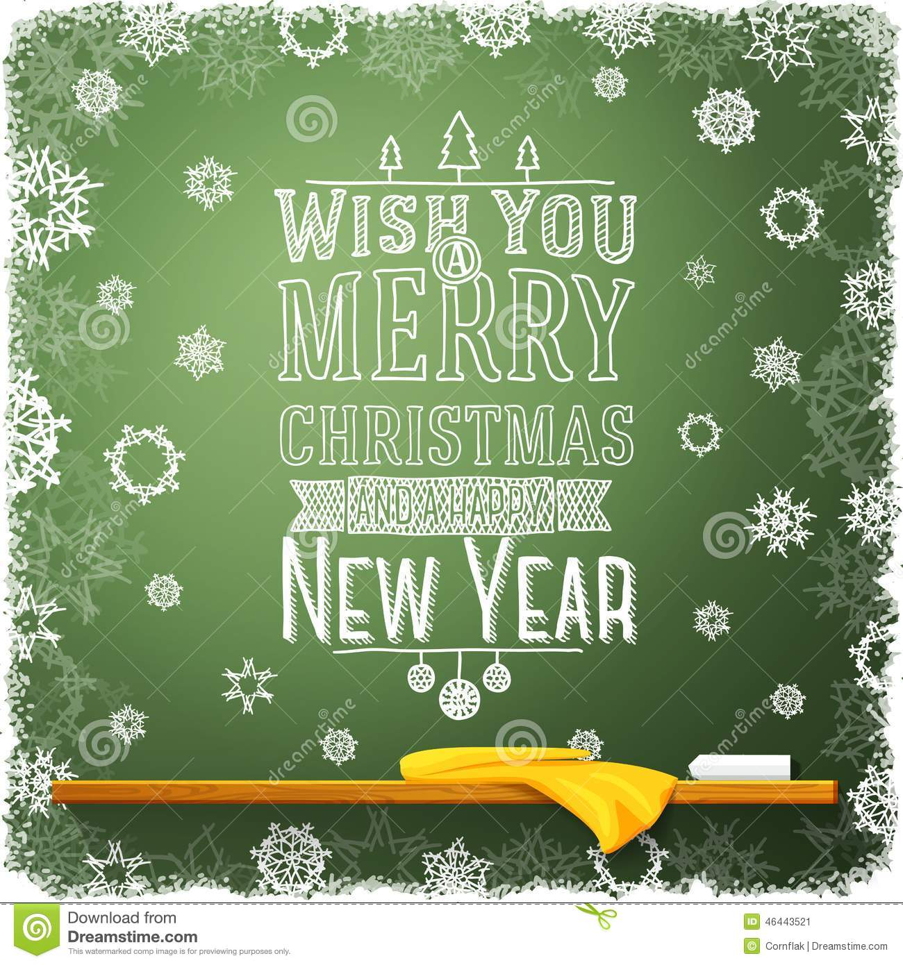 wish you merry christmas and a happy new year