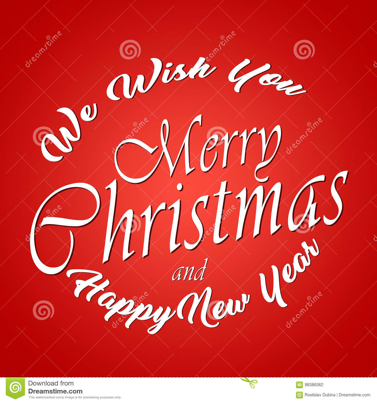 we wish you merry christmas and happy new year typographic background original design element