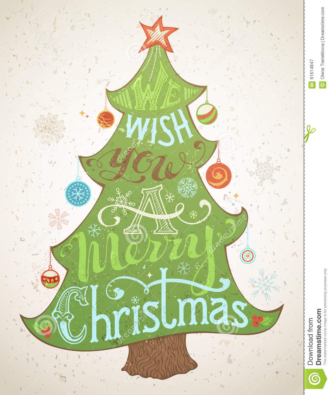 We Wish You A Merry Christmas. Stock Vector - Illustration of ilex ...
