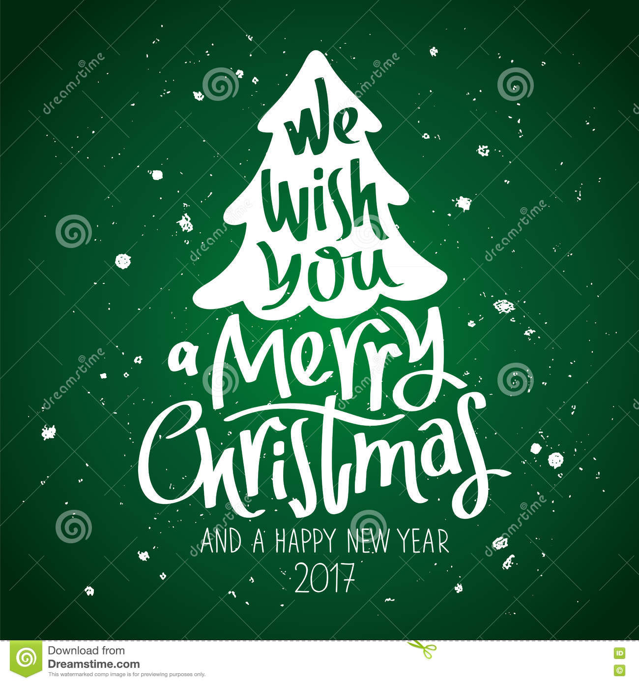We Wish You A Merry Christmas Stock Vector   Illustration of