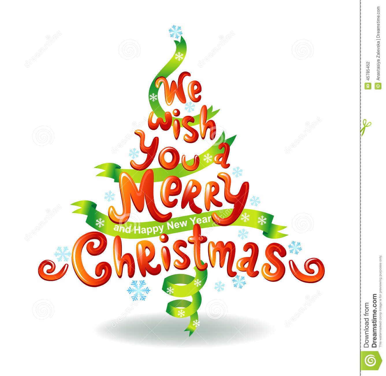 We Wish You A Merry Christmas Stock Illustration - Image: 45785452