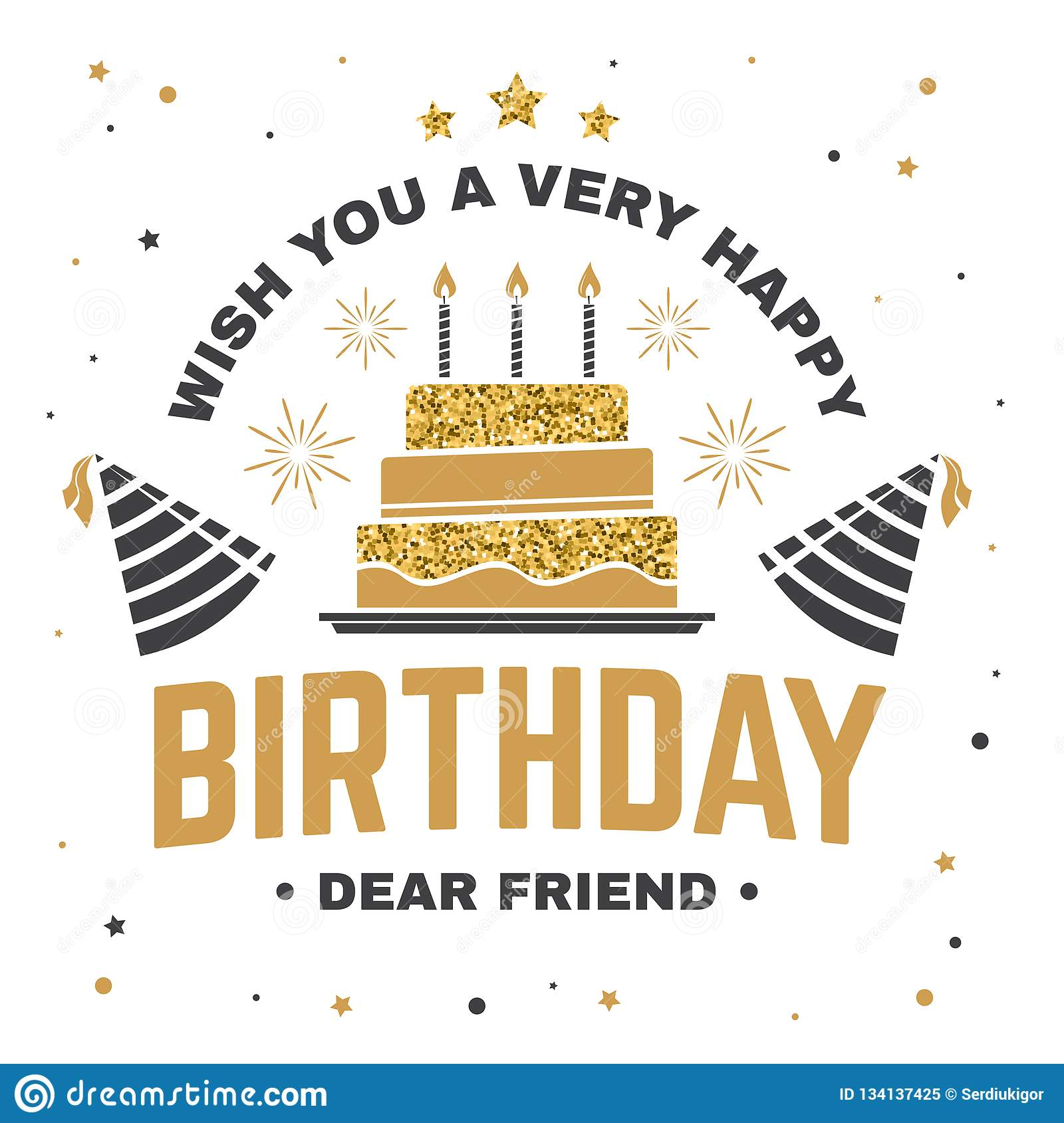 Super Wish You A Very Happy Birthday Dear Friend Badge Card With Birthday Cards Printable Benkemecafe Filternl