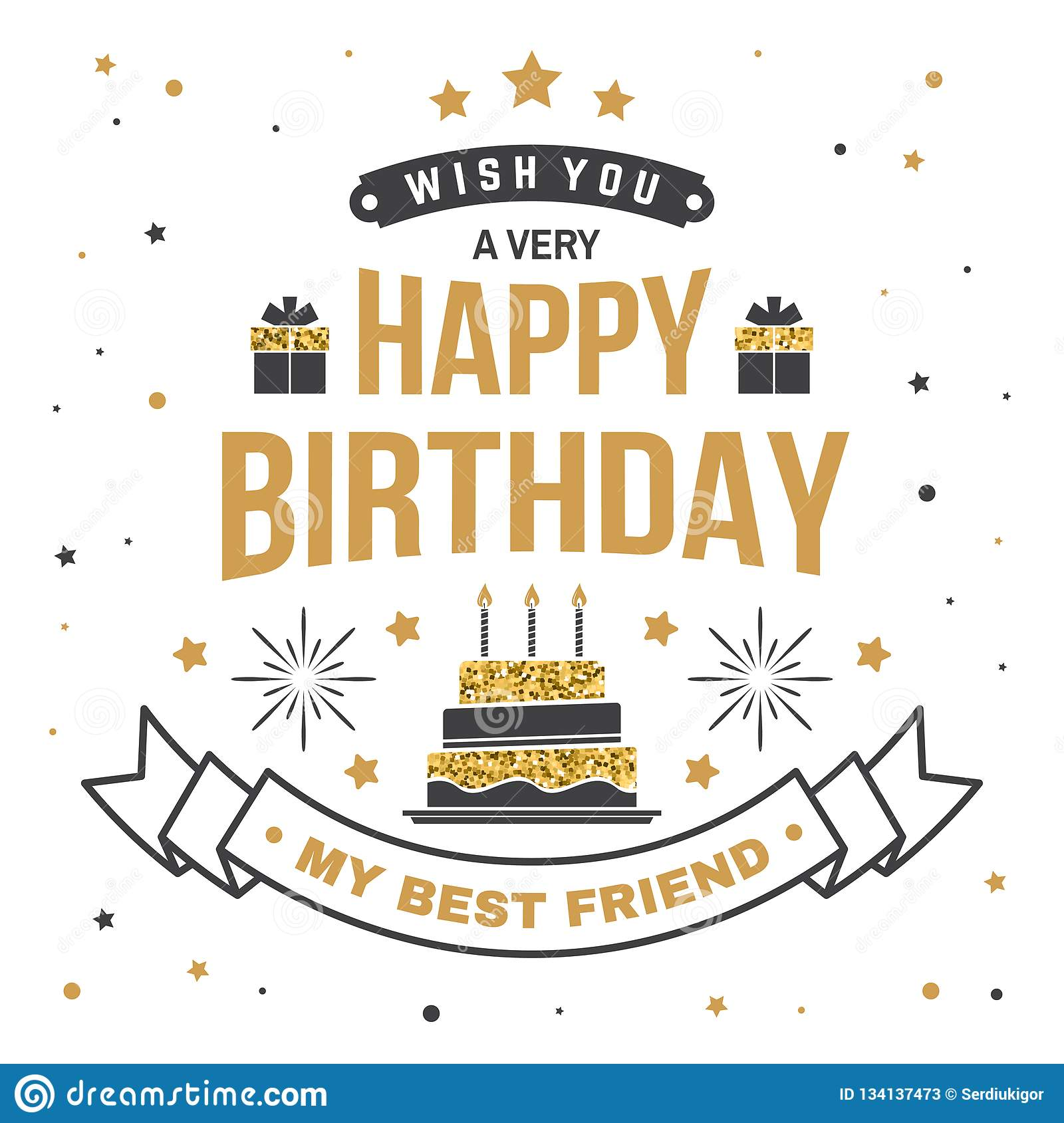 Incredible Wish You A Very Happy Birthday My Best Friend Badge Card With Birthday Cards Printable Benkemecafe Filternl