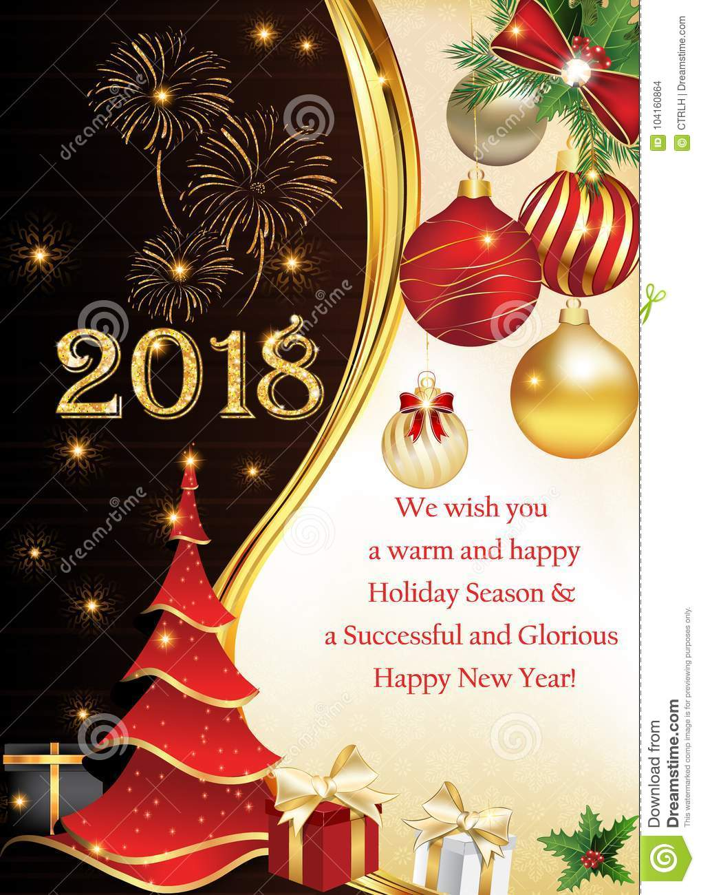 we wish you a warm and happy holiday season greeting card