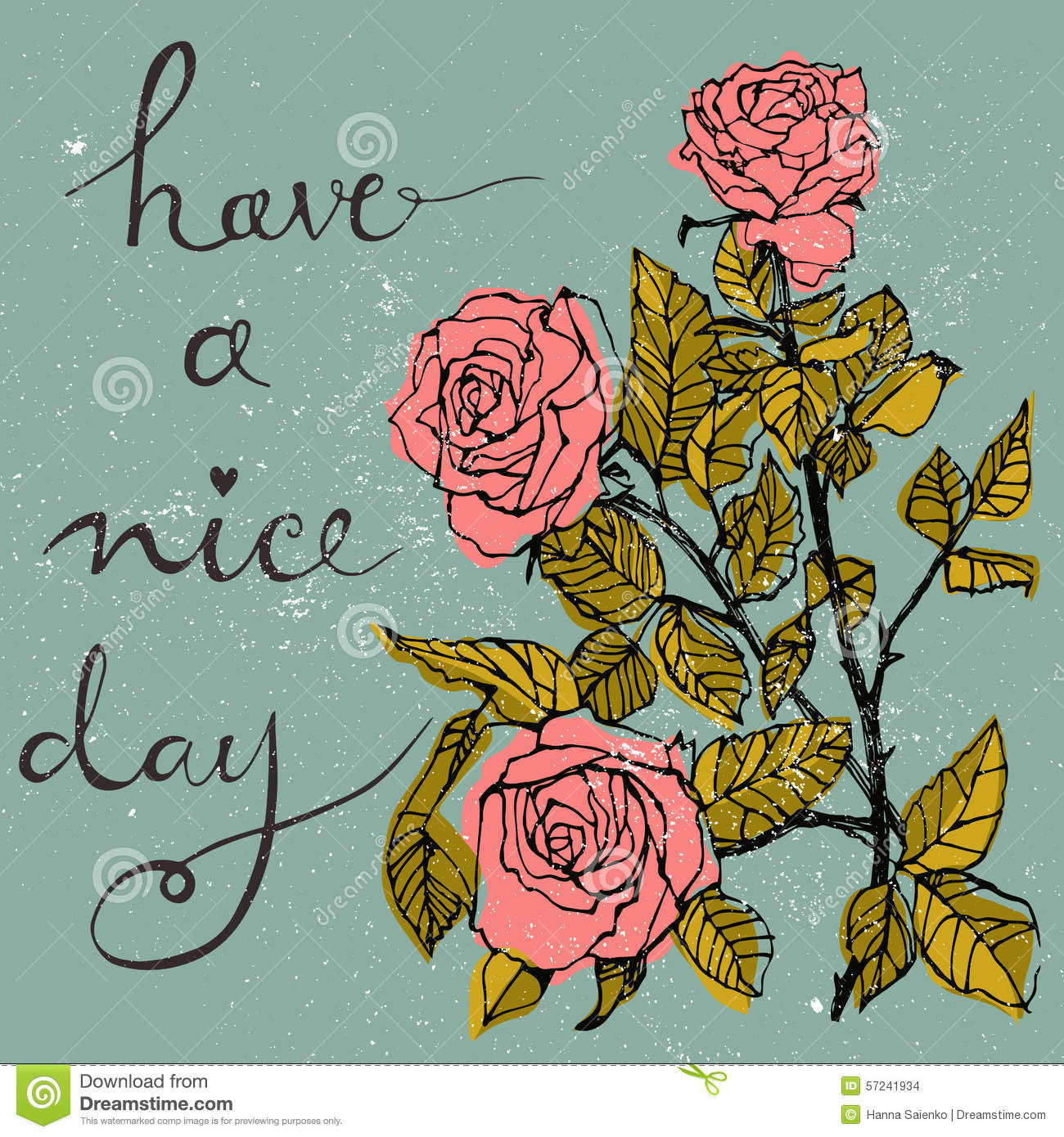 Wishing card beautiful bouquet with roses and hand written text have download wishing card beautiful bouquet with roses and hand written text have a nice day m4hsunfo
