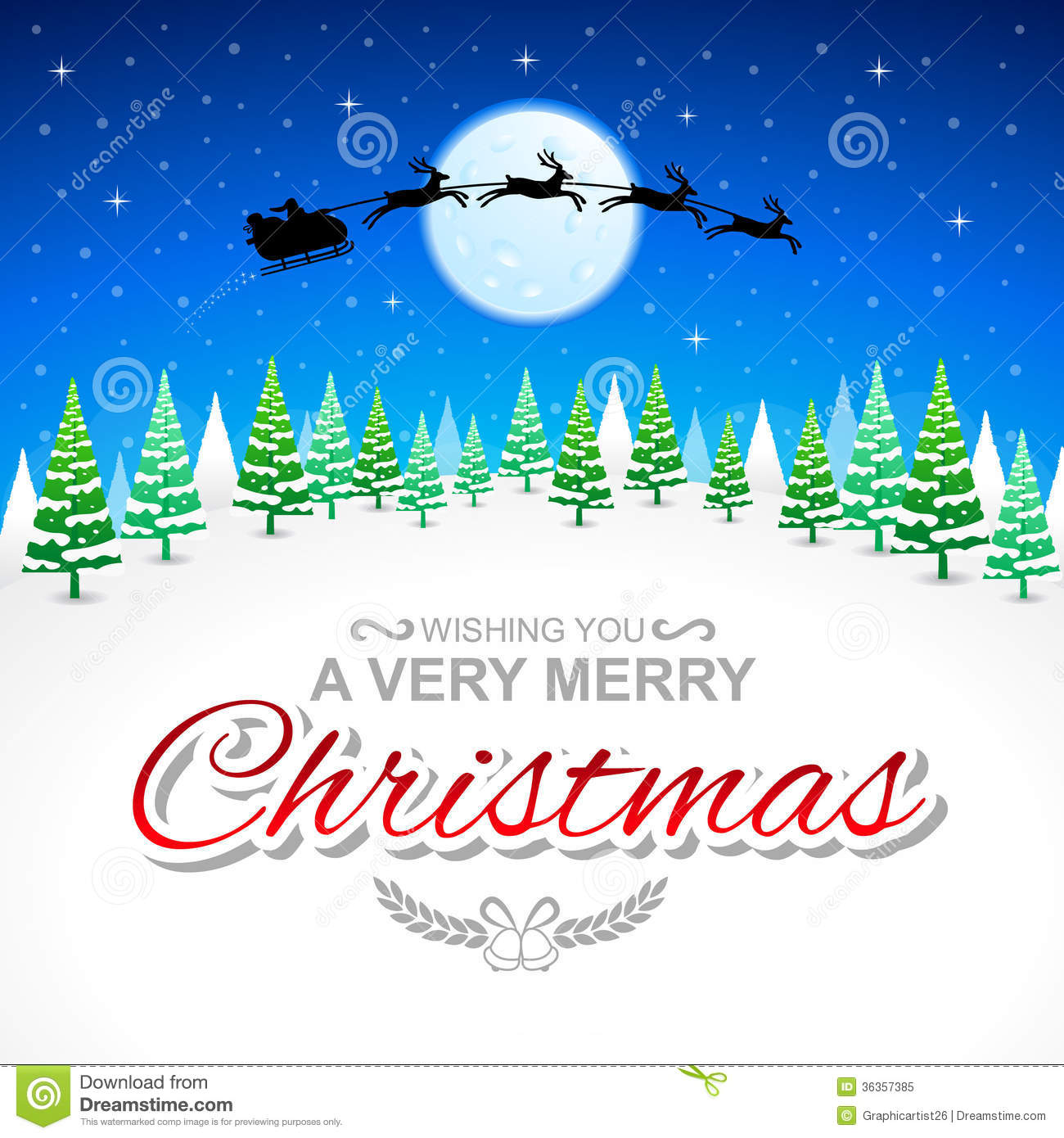 Very Merry Christmas.Wishing You A Very Merry Christmas Stock Illustration