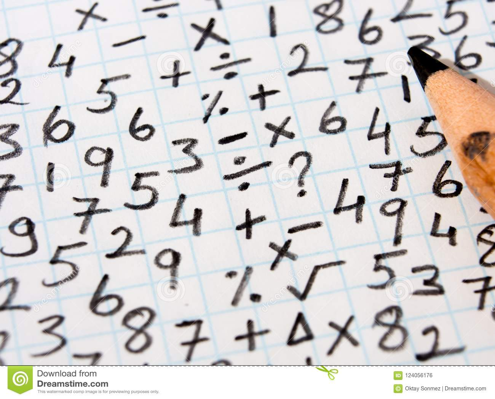 Wiskundige symbolen en probleem het oplossen