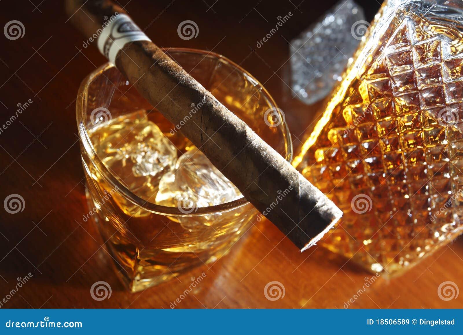 Wisky en sigaar