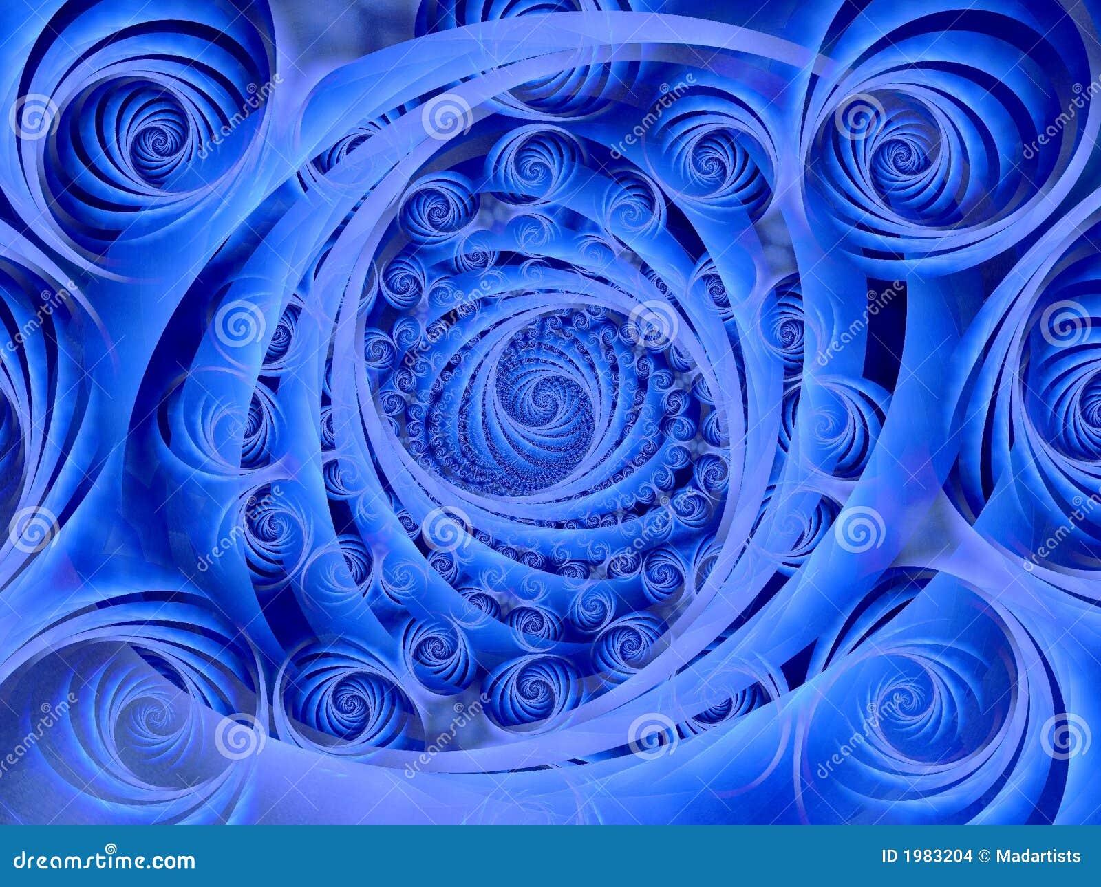 Wispy Blue Spirals Pattern
