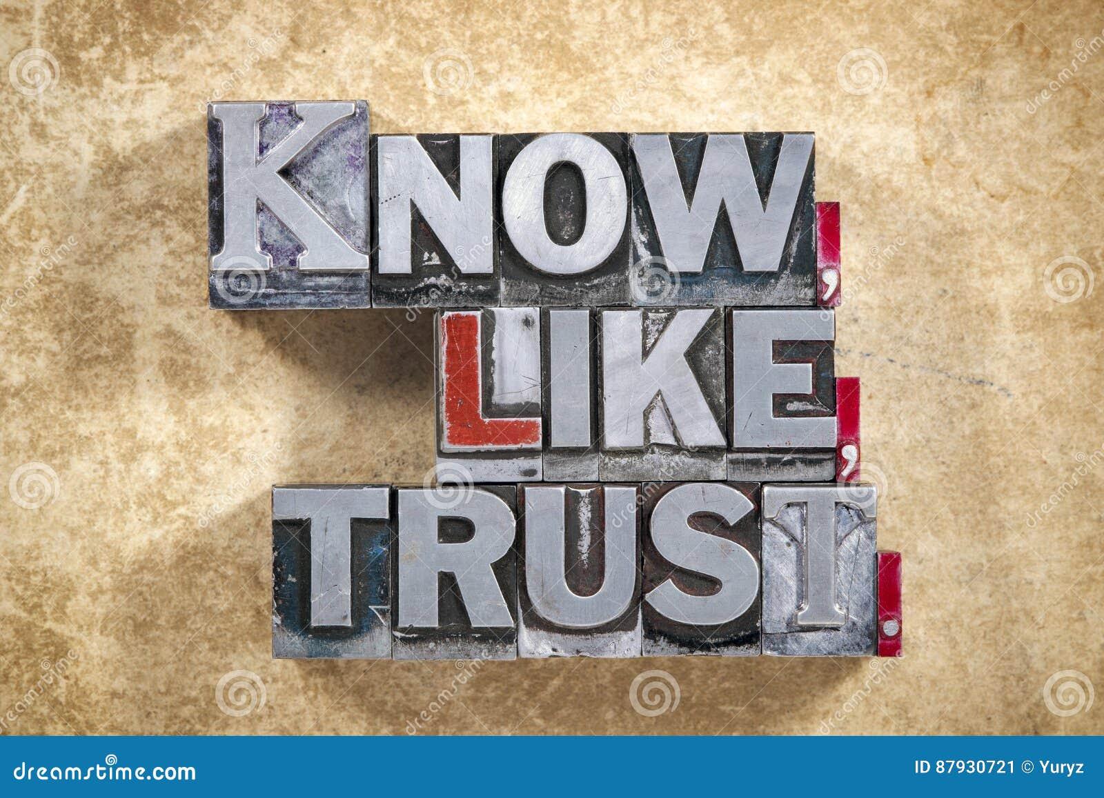 Wissen Sie, wie, Vertrauenswörter