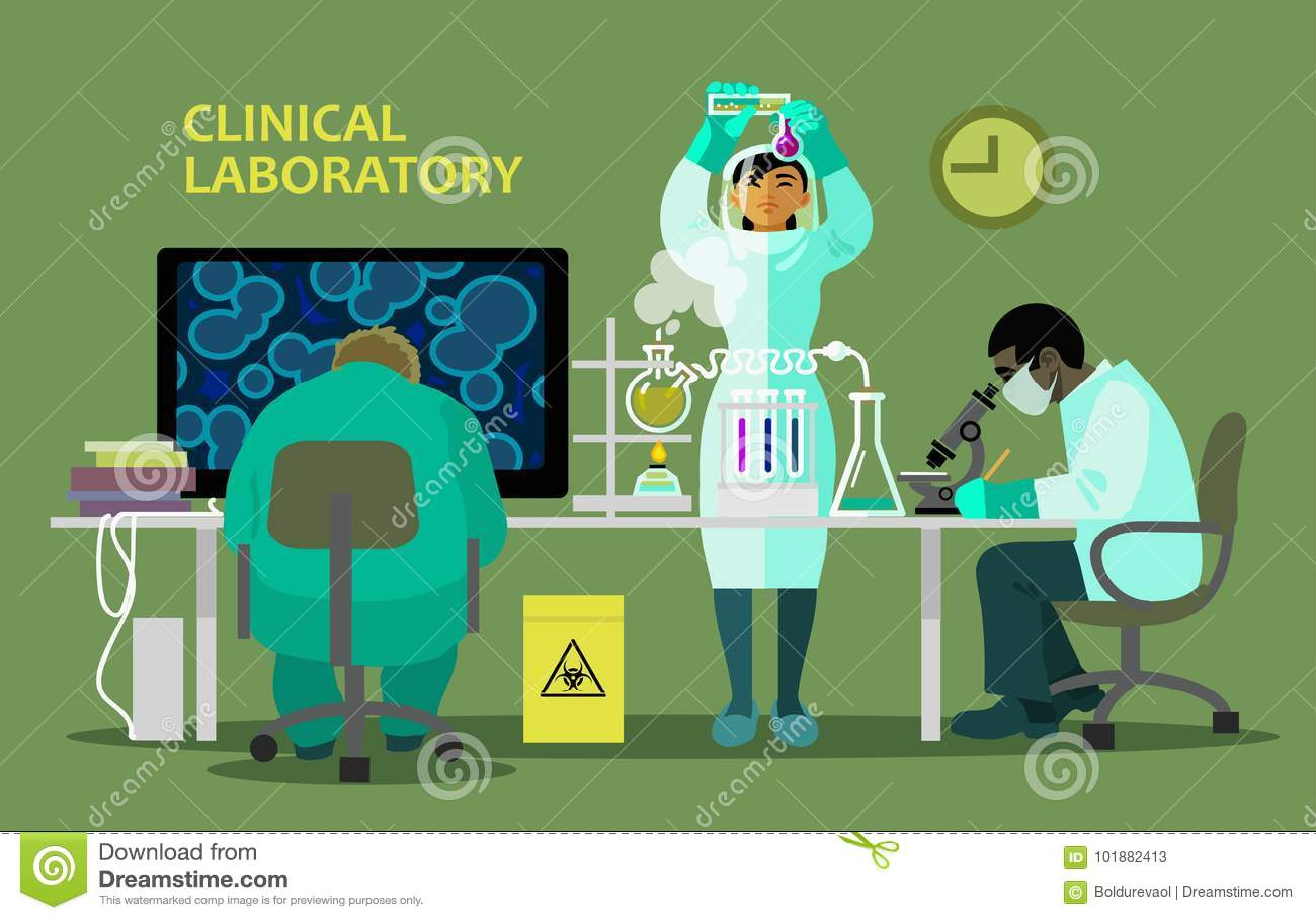 Wissenschaftler im medizinischen Labor, das Forschung tut
