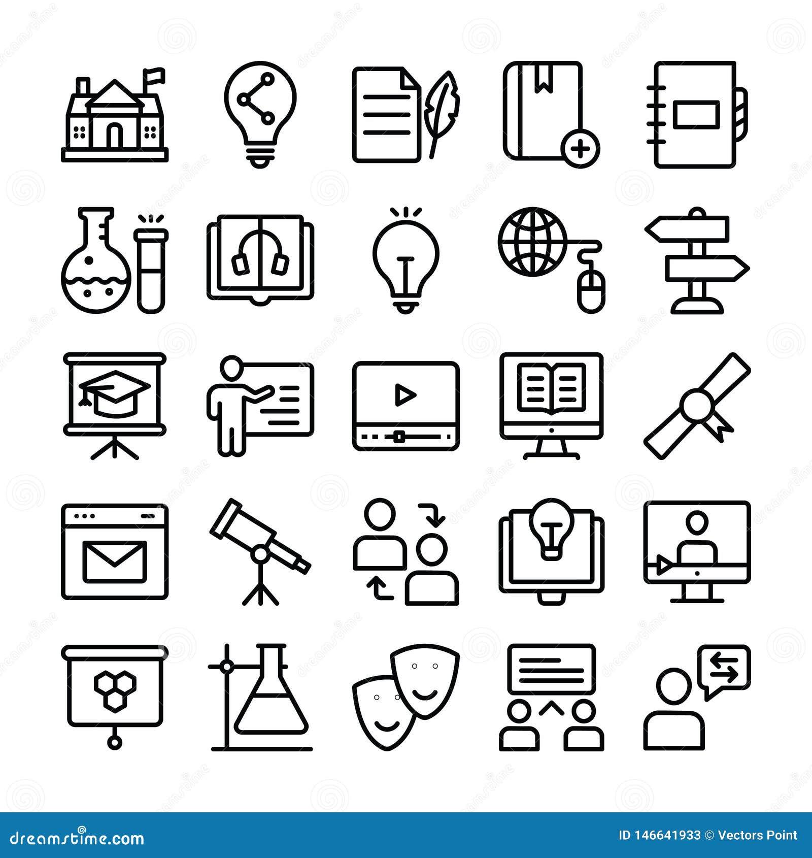 Wissenschafts-und Ausbildungs-Linie Ikonen verpacken