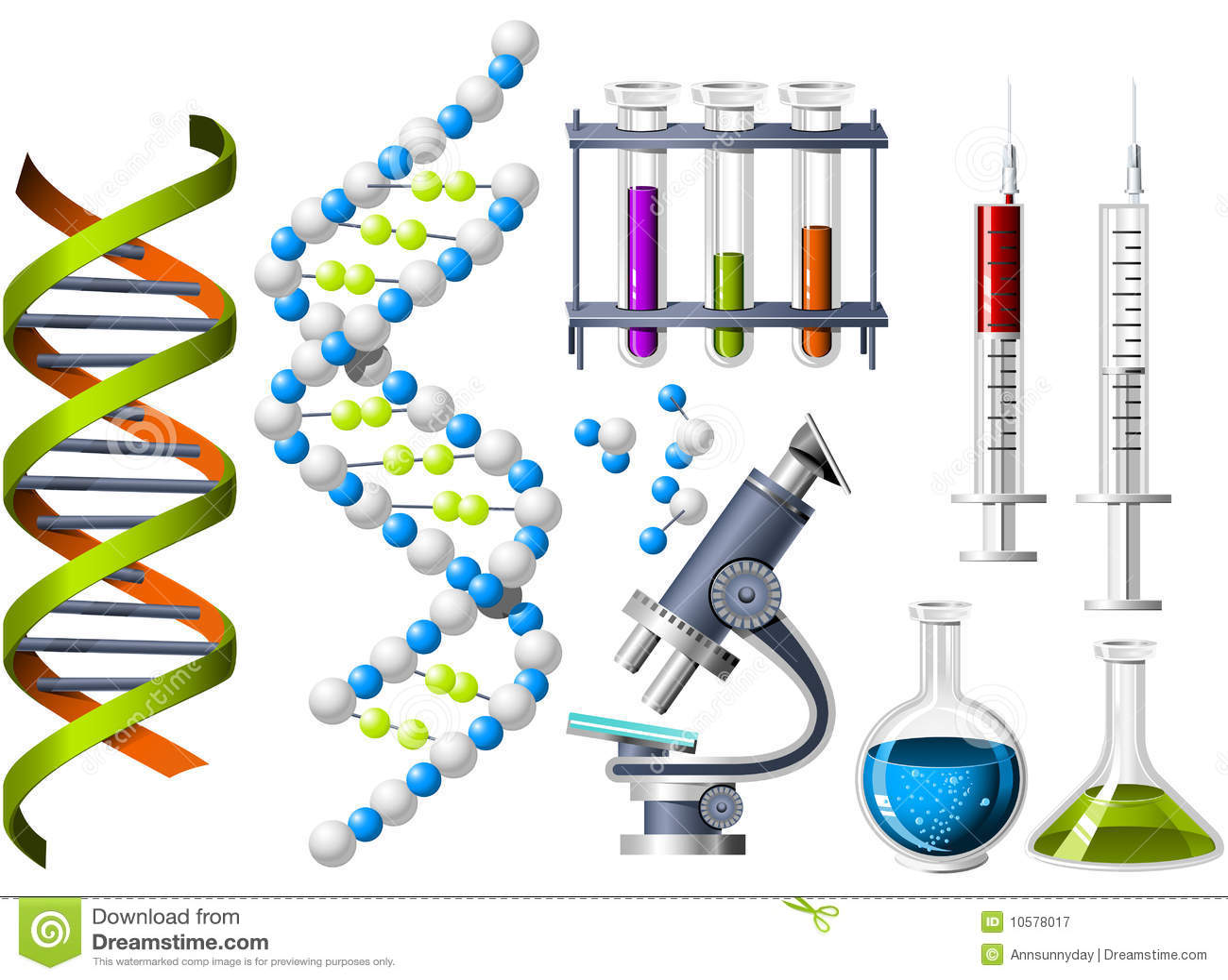 Wissenschafts- und Genetikikonen