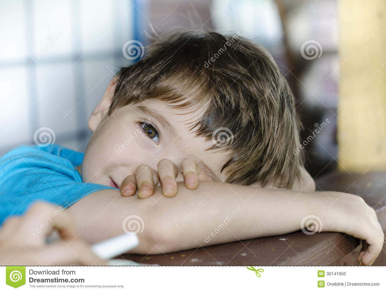 Child's Glance Stock Photo - Image: 30141950