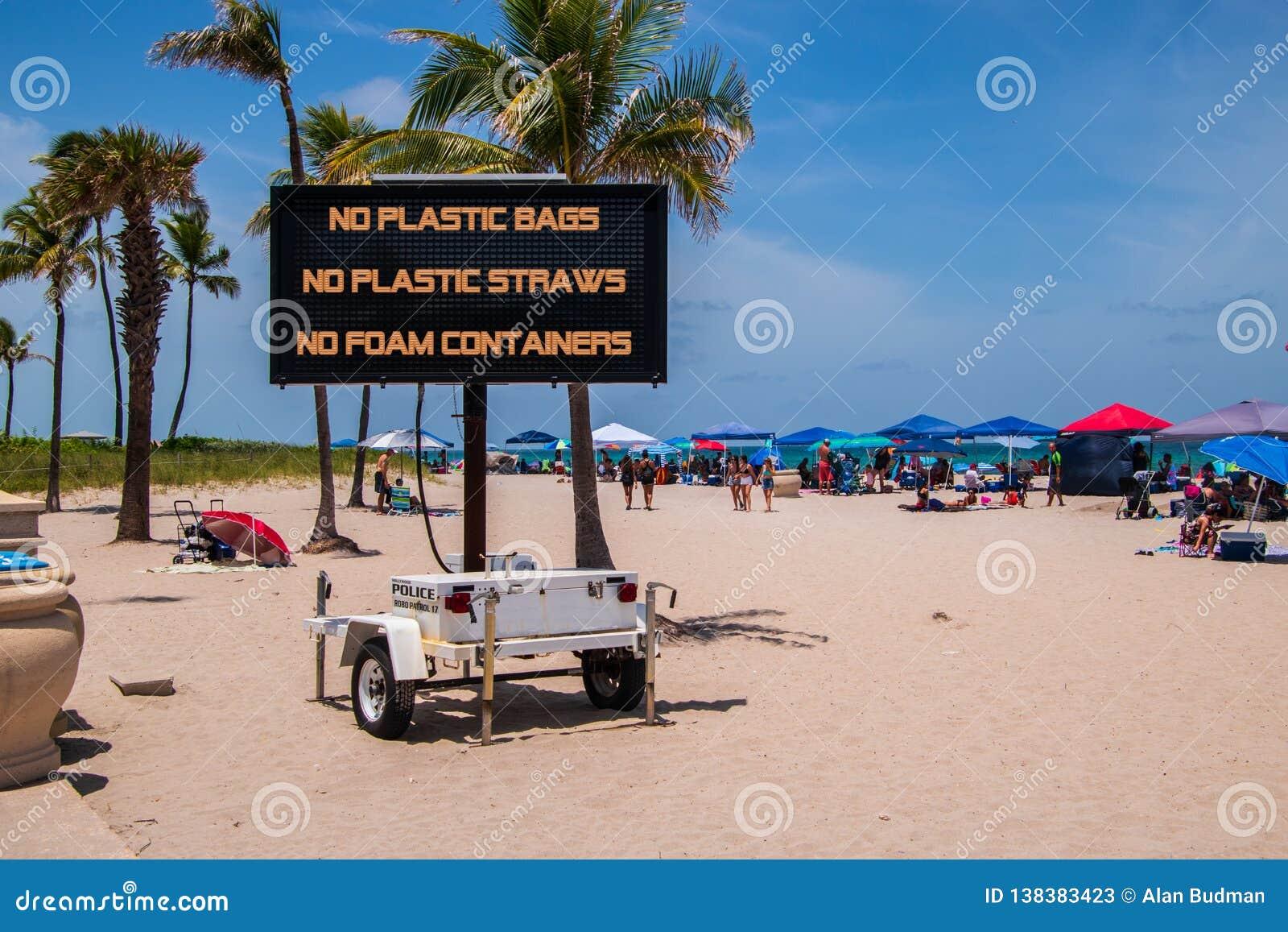 Wisząca ozdoba znak na plażowy mówić, żadny plastikowi worki, żadny plastikowe słoma, żadny piankowi zbiorniki