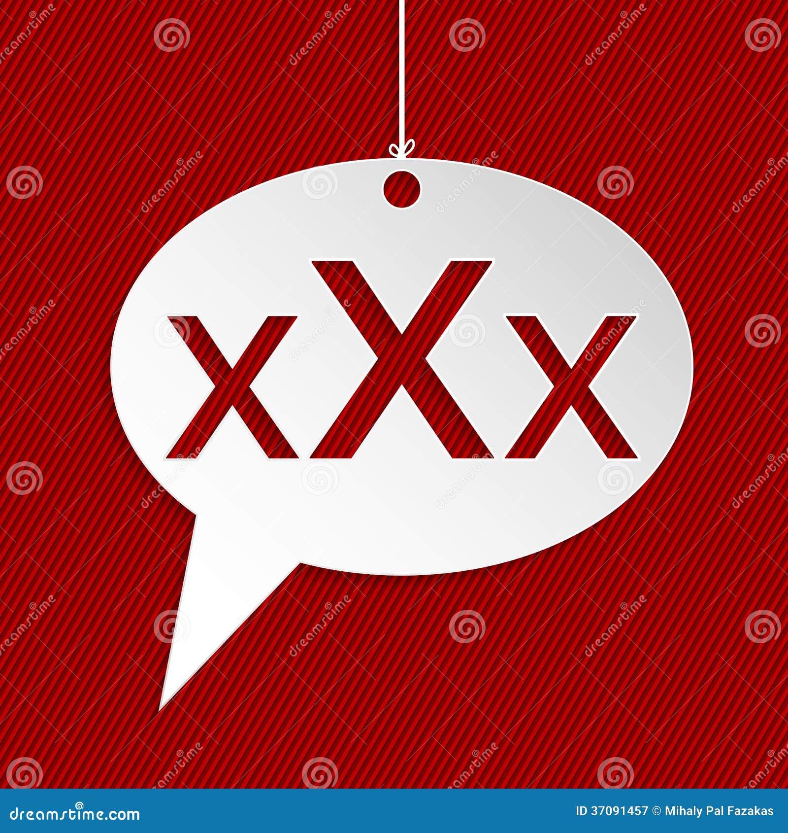 Download Wiszący Mowa Bąbla Znak Z Tekstem XXX Ilustracja Wektor - Ilustracja złożonej z erotyczność, seymour: 37091457