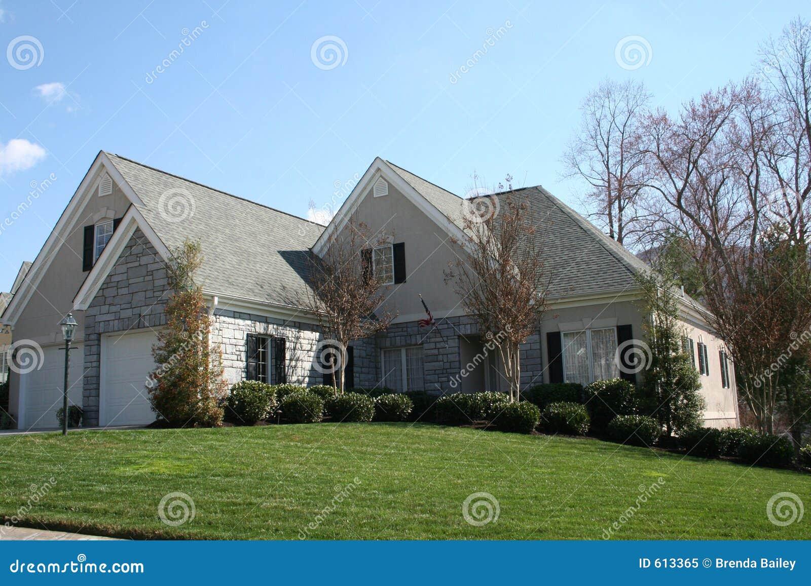 Wit baksteenhuis