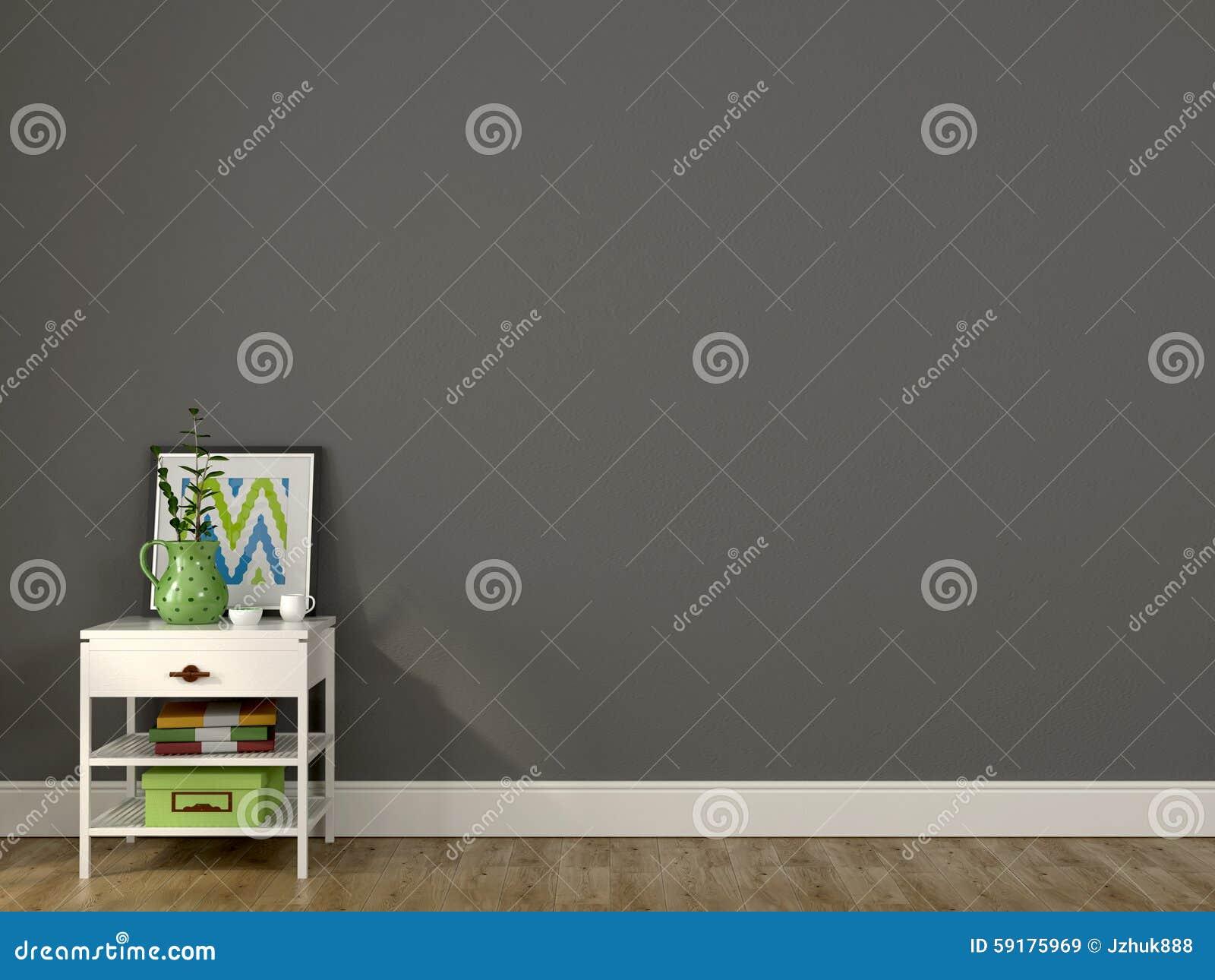 Wit bed en een grijze muur stock afbeelding afbeelding bestaande uit installatie 59175969 - Bed grijze volwassen ...