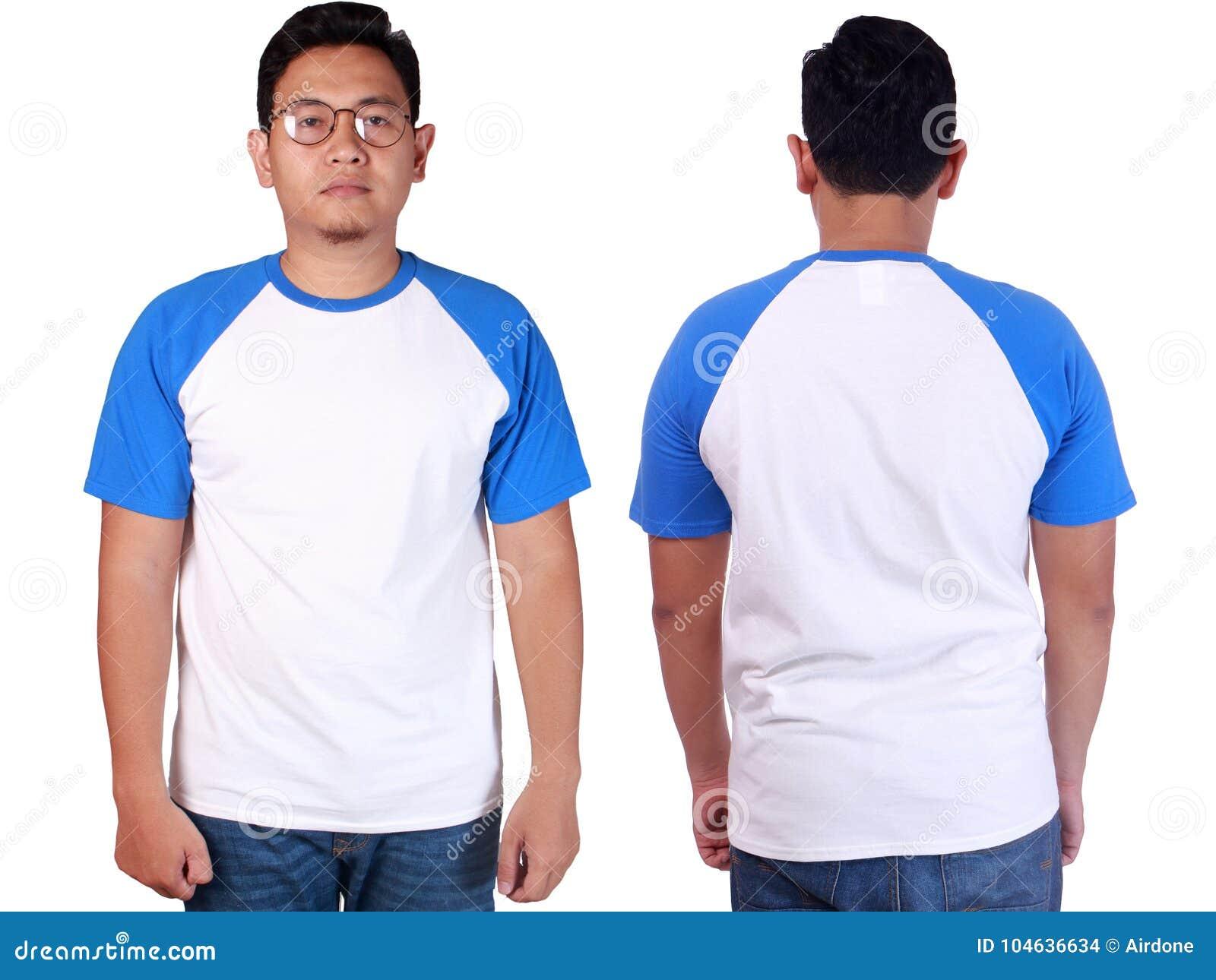 Download Wit Blauw Het Modelmalplaatje Van Het Beloverhemd Stock Foto - Afbeelding bestaande uit menselijk, toevallig: 104636634