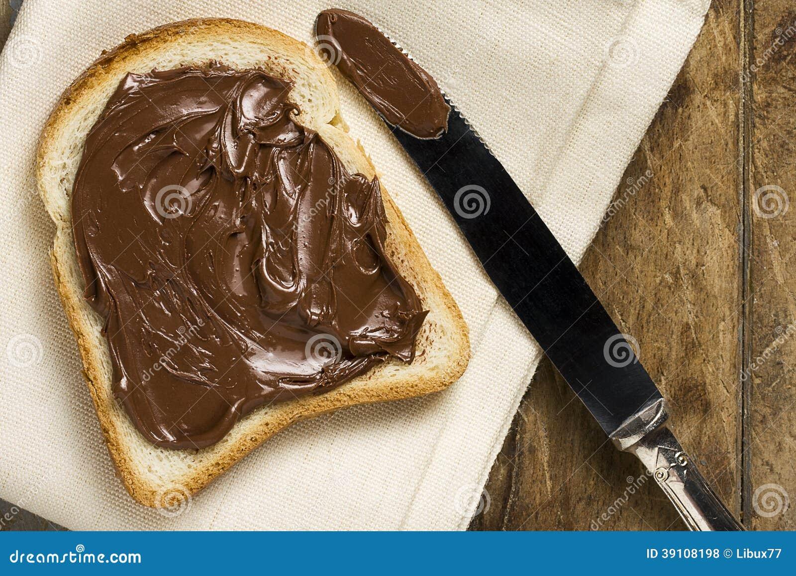 Wit Brood met Nutella