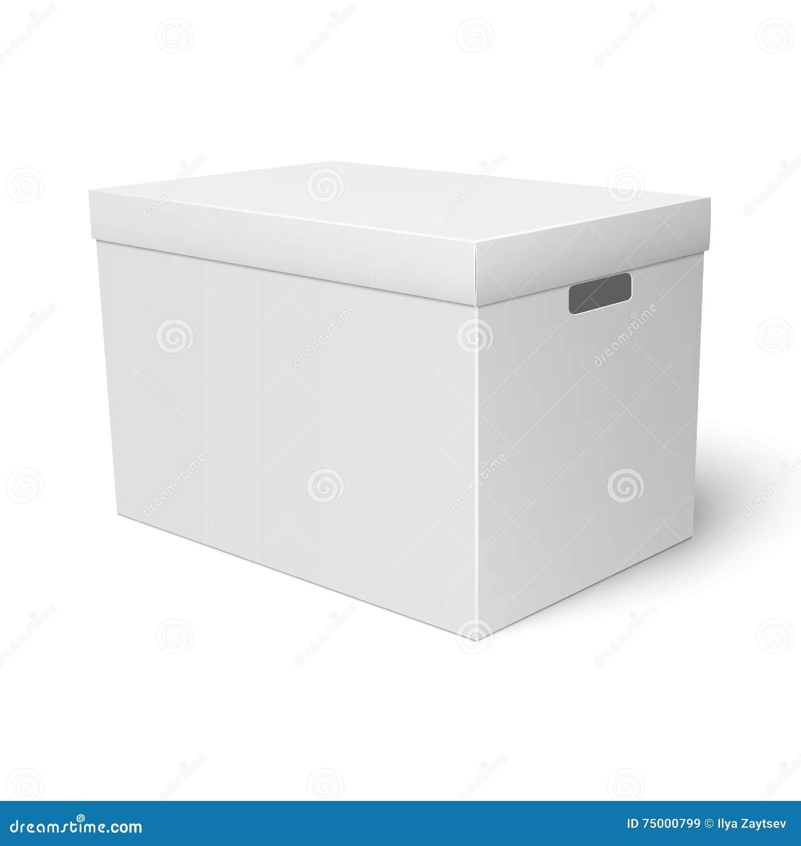 Wit de doosmalplaatje van de kartonopslag