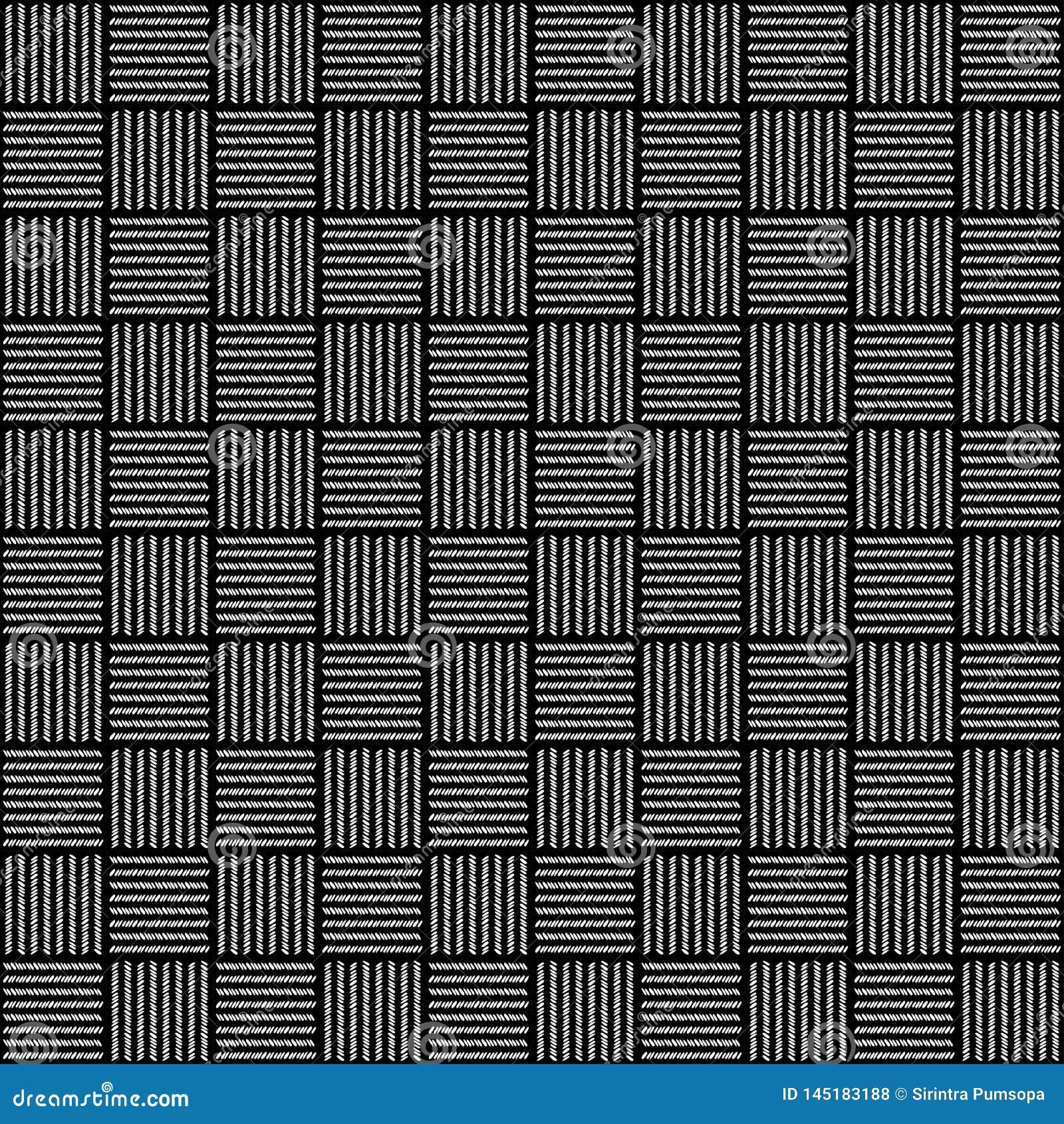 Wit en zwart de textuurpatroon van het stoffen textielproduct voor de Realistische grafische achtergrond van het ontwerpbehang Na