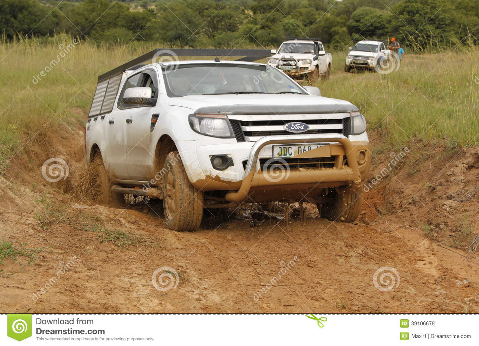 Wit Ford Ranger XLS met Zilveren Luifel