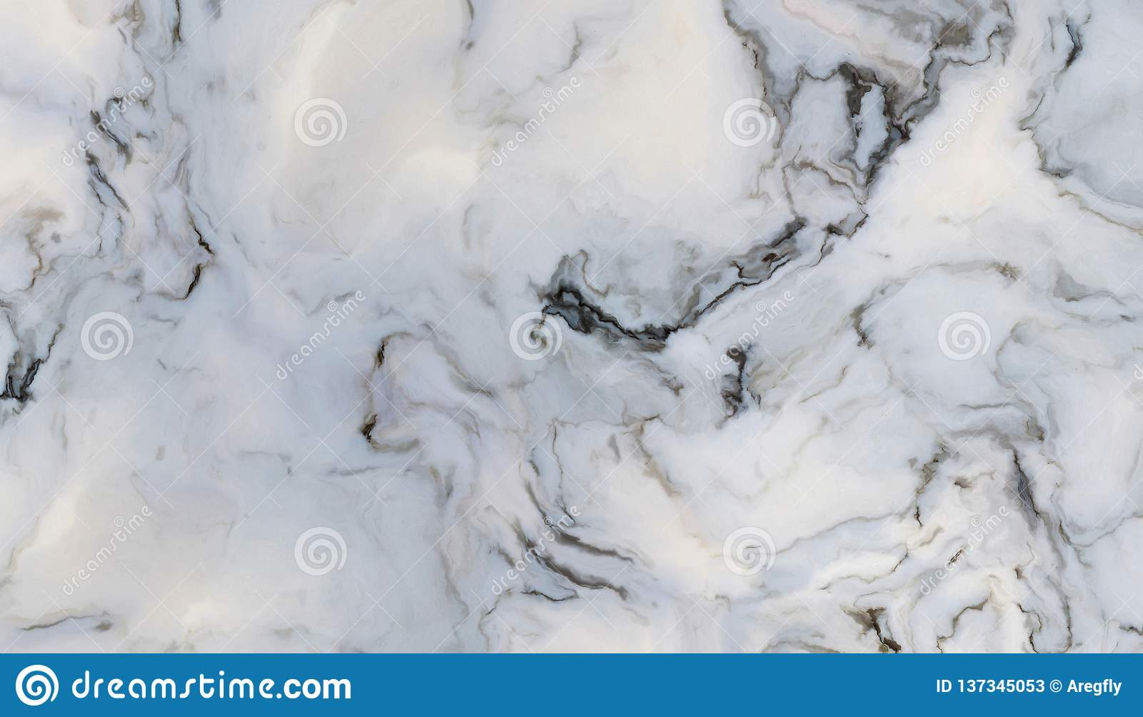 Wit krullend marmer
