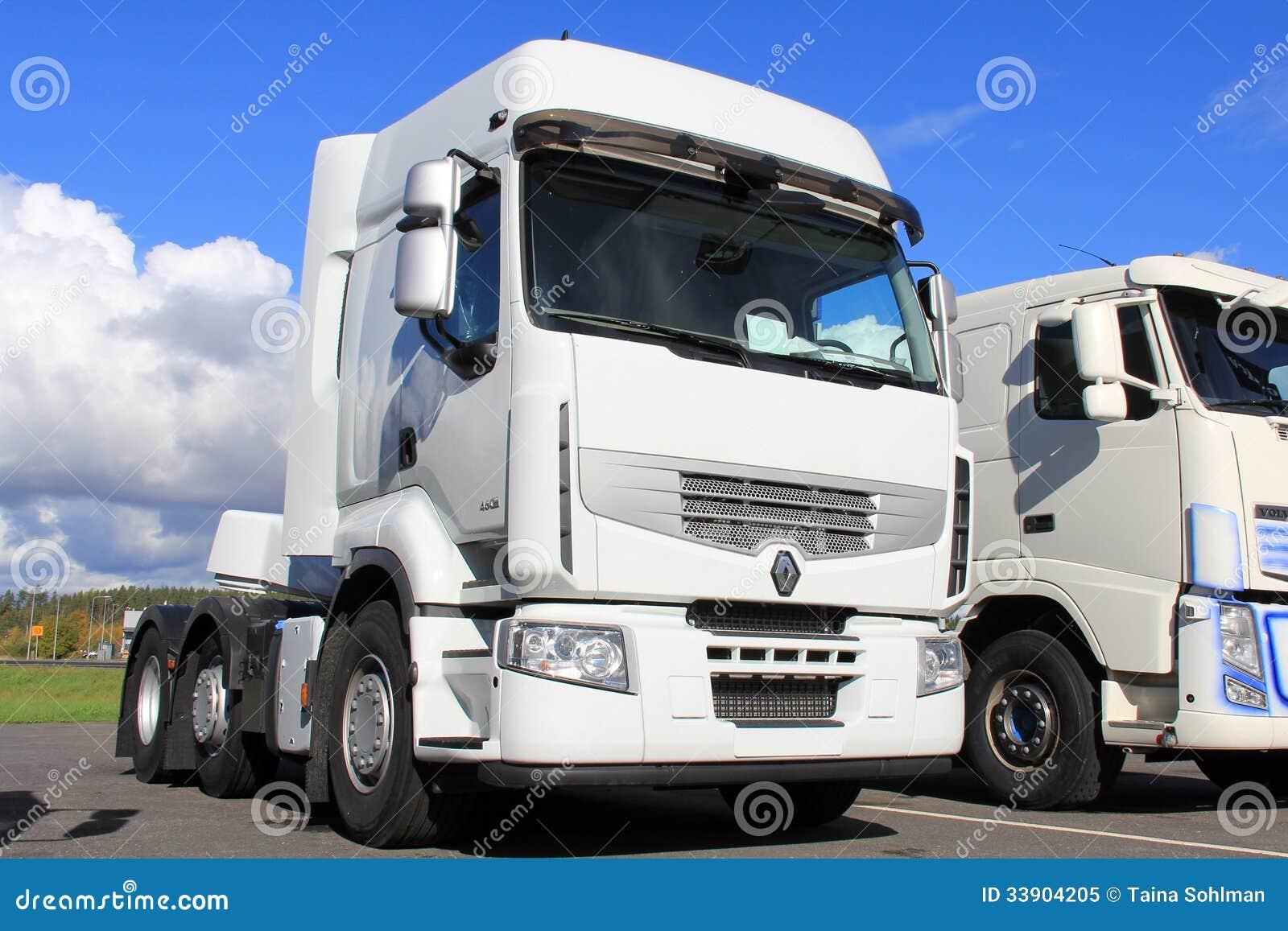 Wit Renault Premium 460 Vrachtwagen