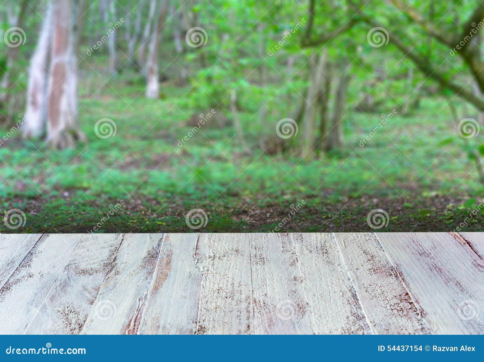 wit tafelblad met forest background stock foto - afbeelding: 54437154