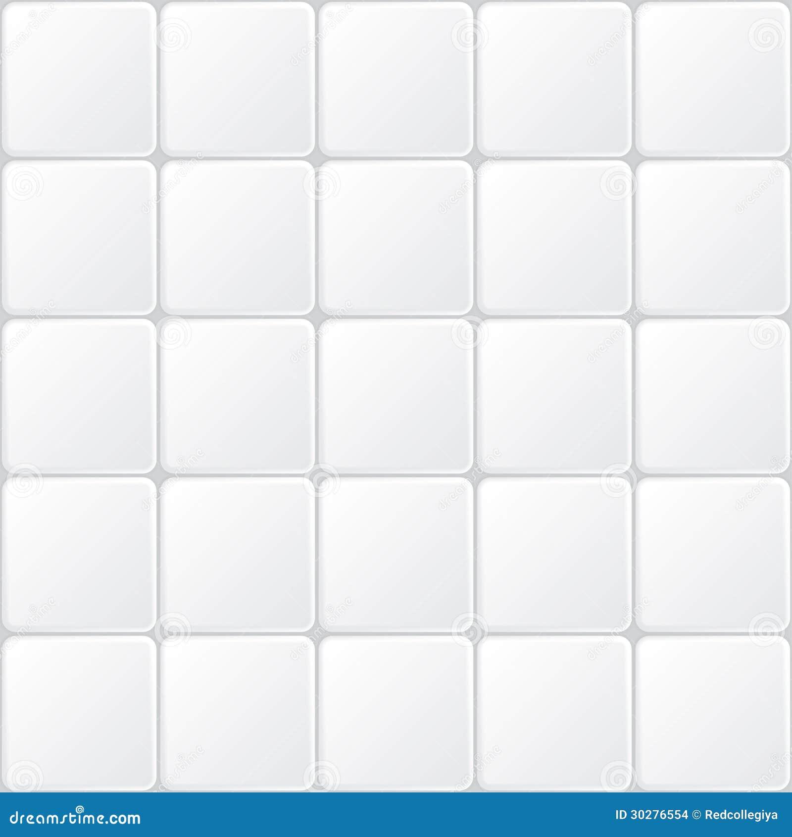 Wit tegel naadloos patroon, minimalistic vectorachtergrond.