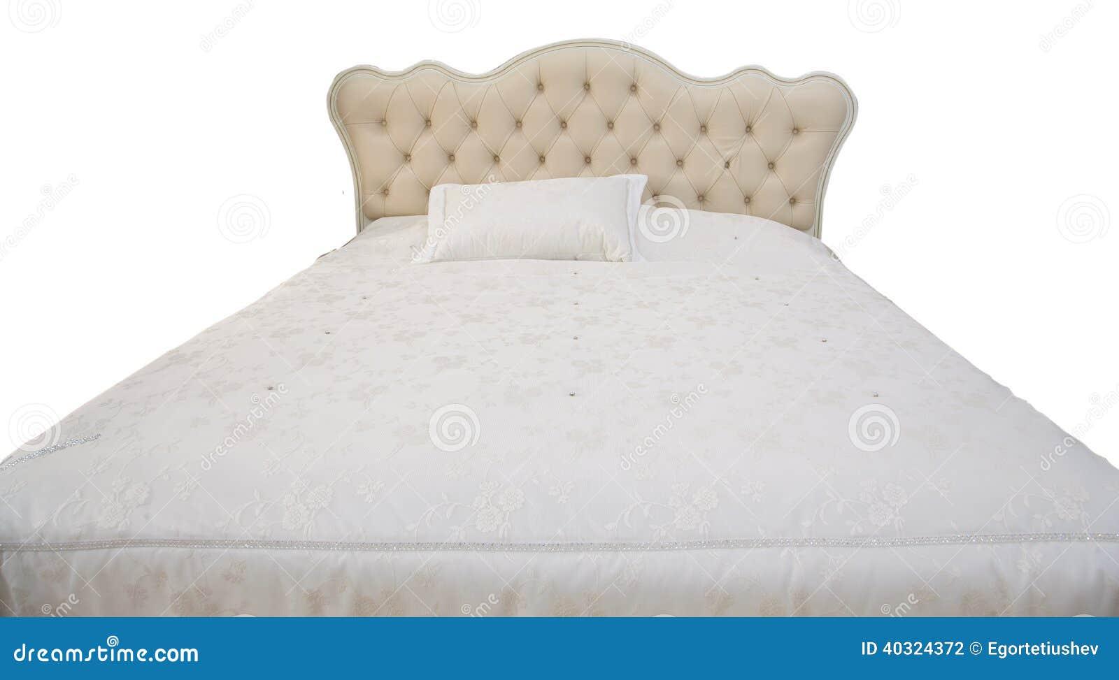 Wit tweepersoonsbed stock foto afbeelding bestaande uit binnenlands 40324372 - Klassiek bed ...