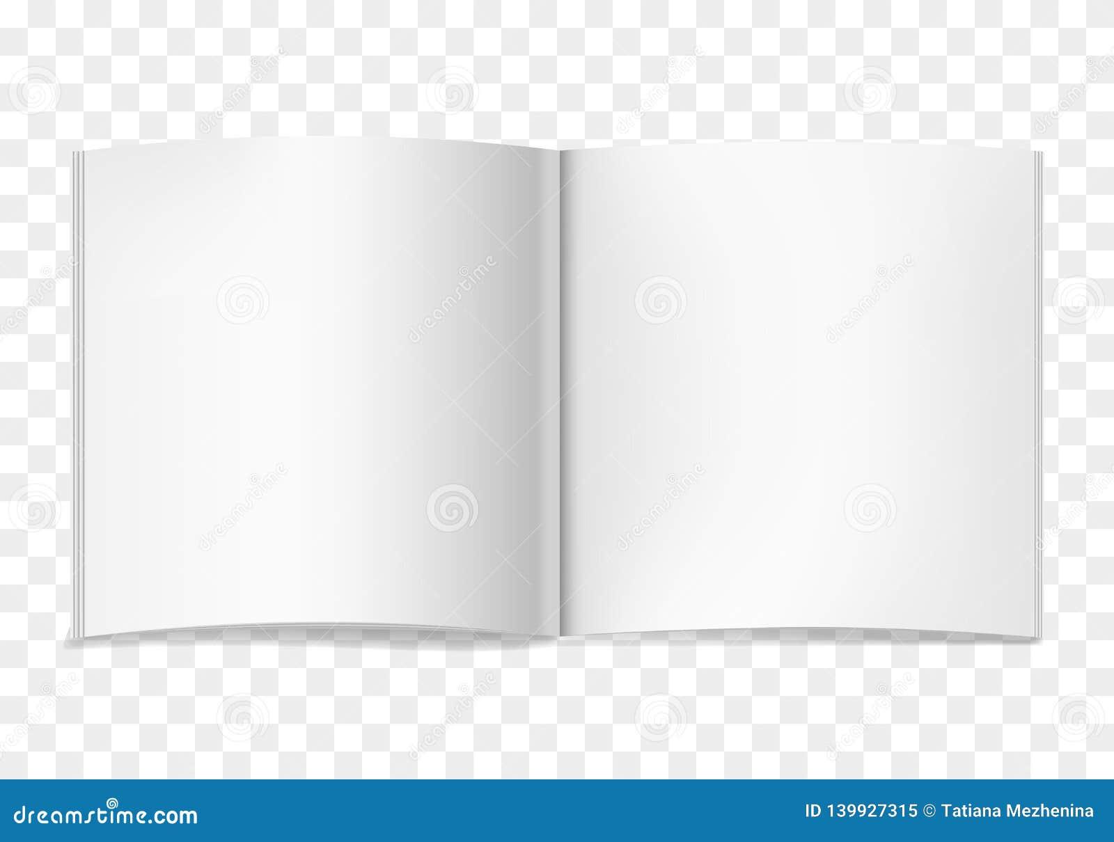 Wit vector realistisch vierkant geopend boek