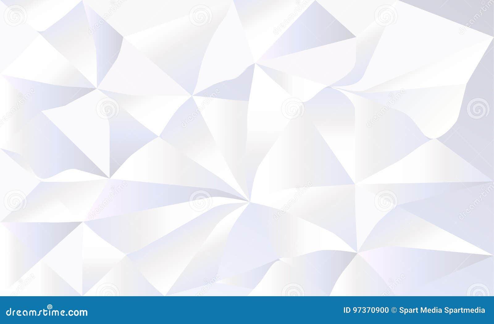 Welp Wit Verfrommeld Document 3D Behang Vector Illustratie KU-85