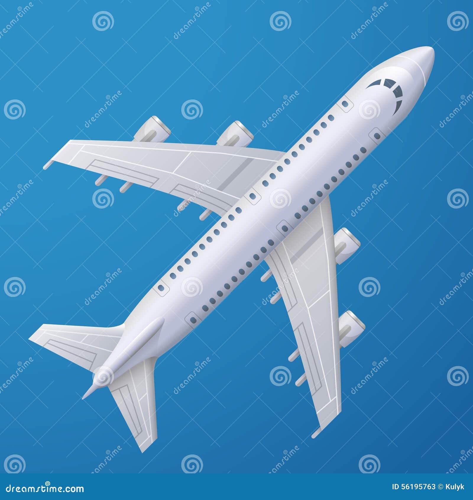 Wit vliegtuig tegen blauwe achtergrond