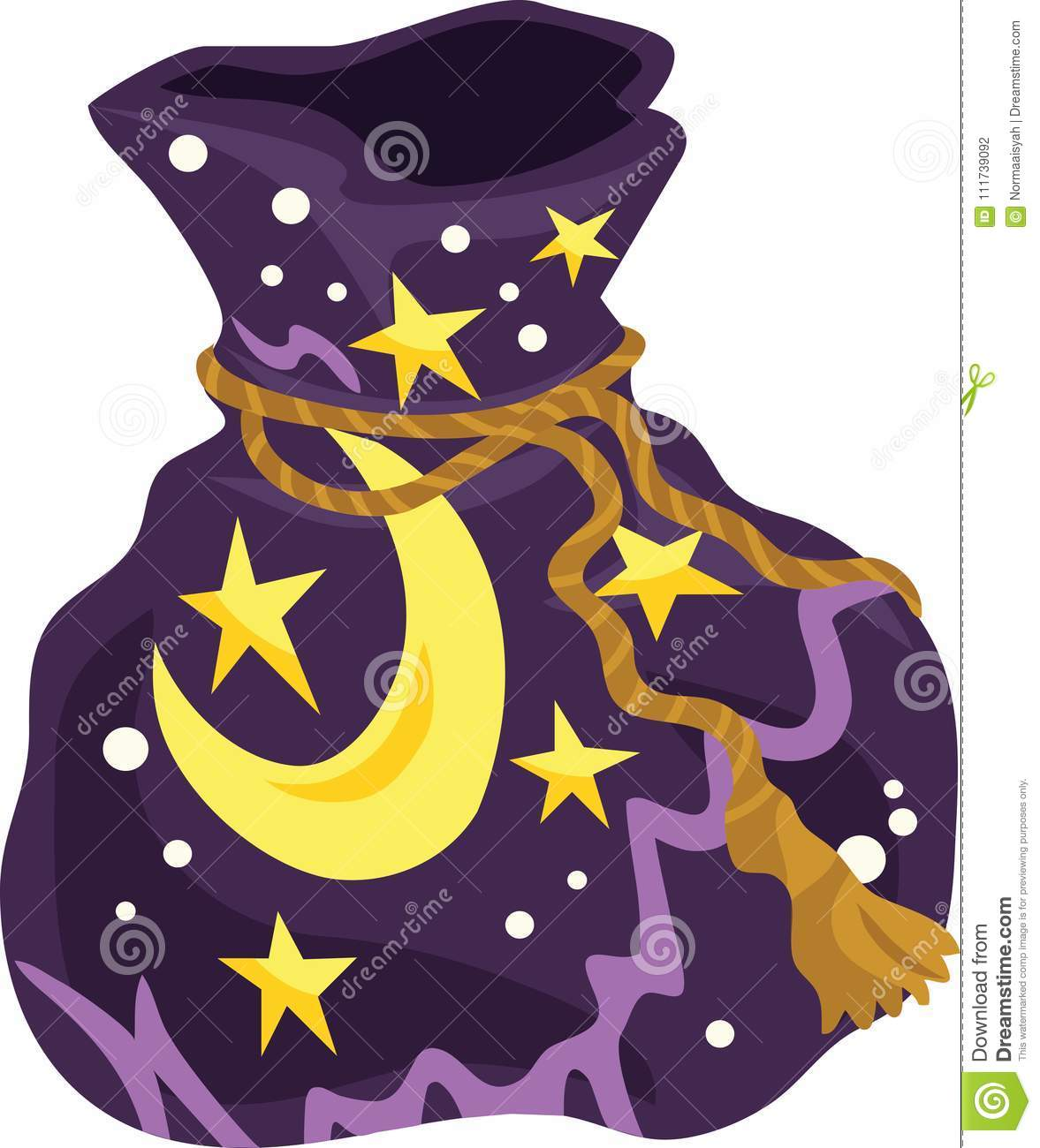 Witch Bag Icon And Vector Illustration Stock Illustration