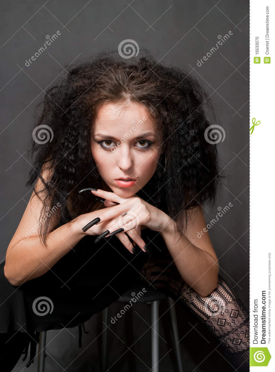 Witch With Black Nails Stock Photo Image 16533070