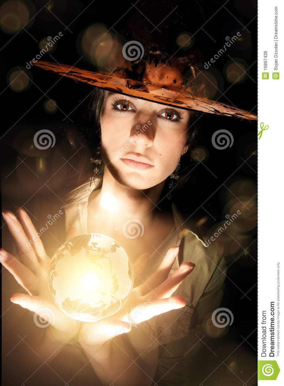Witch With Crystal Ball Royalty Free Stock Images - Image ... Crystal Ball Fortune Teller