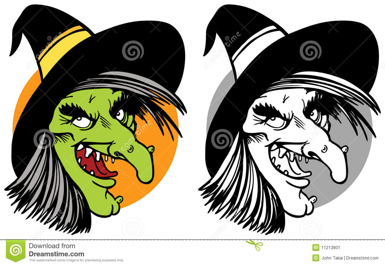 Witch Face Collage Stock Vector. Illustration Of Book