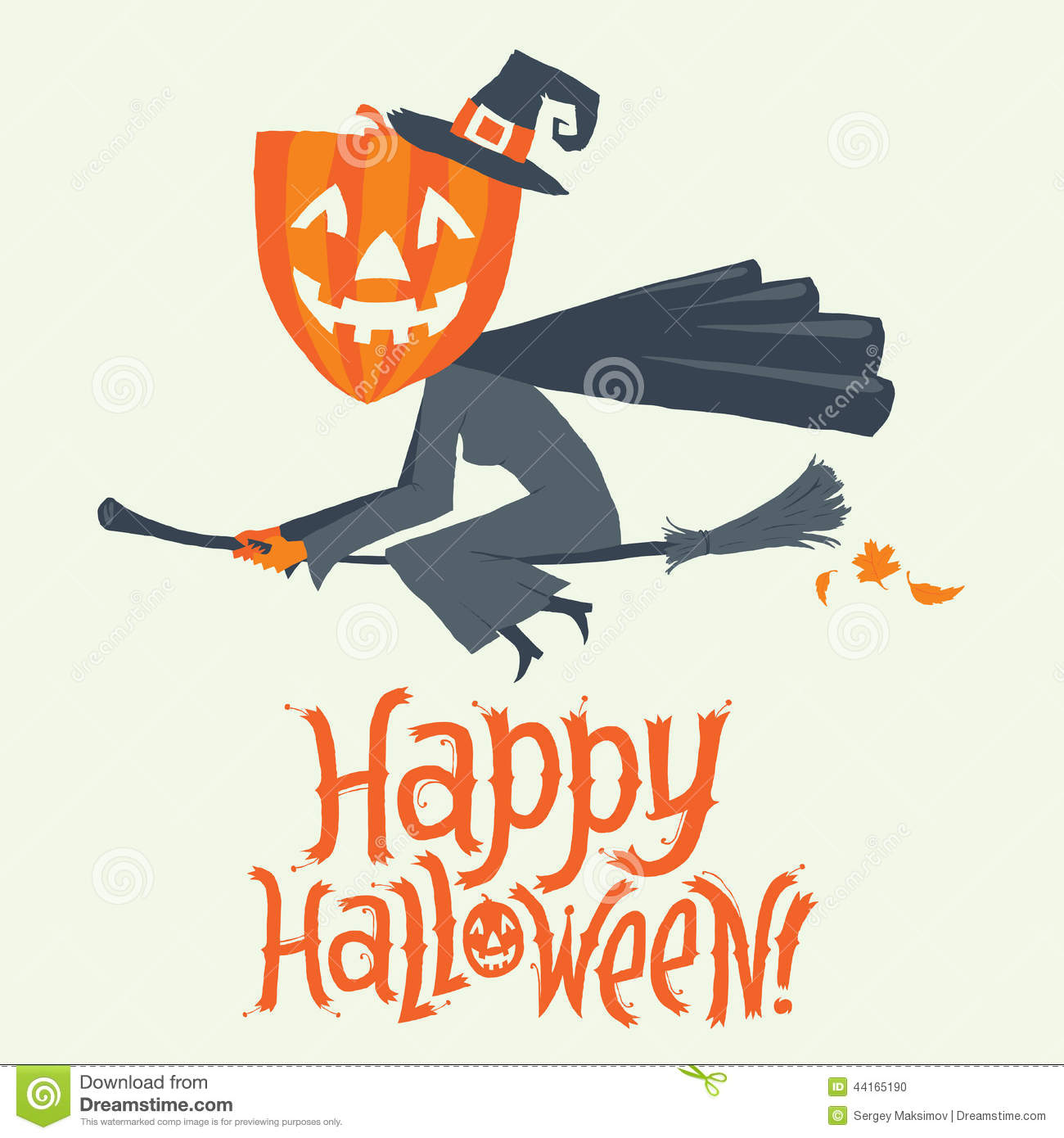 A witch flying on a broomstick happy halloween postcard poster a witch flying on a broomstick happy halloween postcard poster background or party invitation vector illustration stopboris Gallery