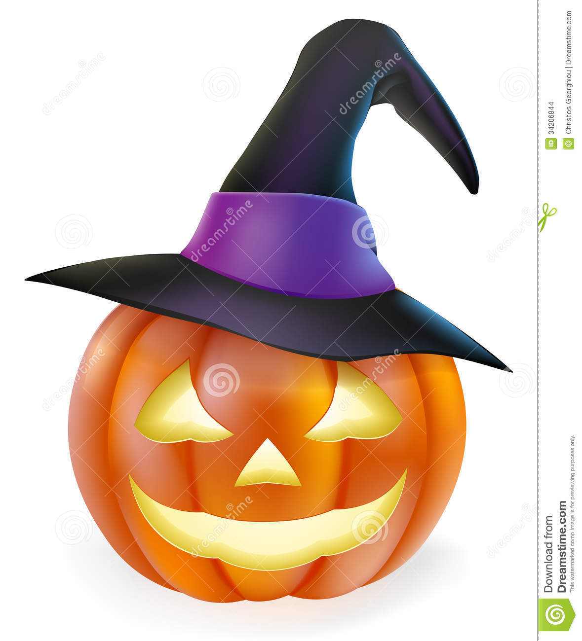 witch hat halloween pumpkin stock images image 34206844