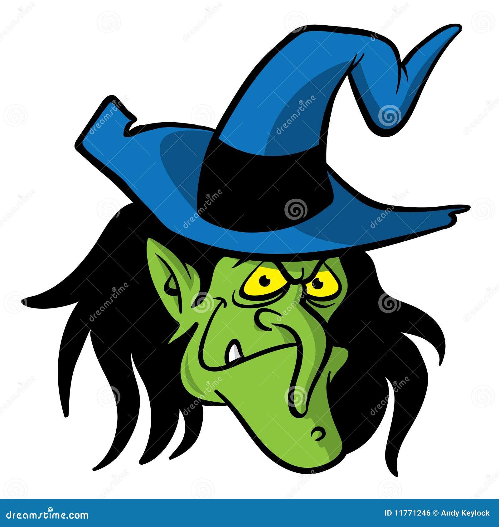 Witch Head Cartoon Illustration Royalty Free Stock Image - Image ...