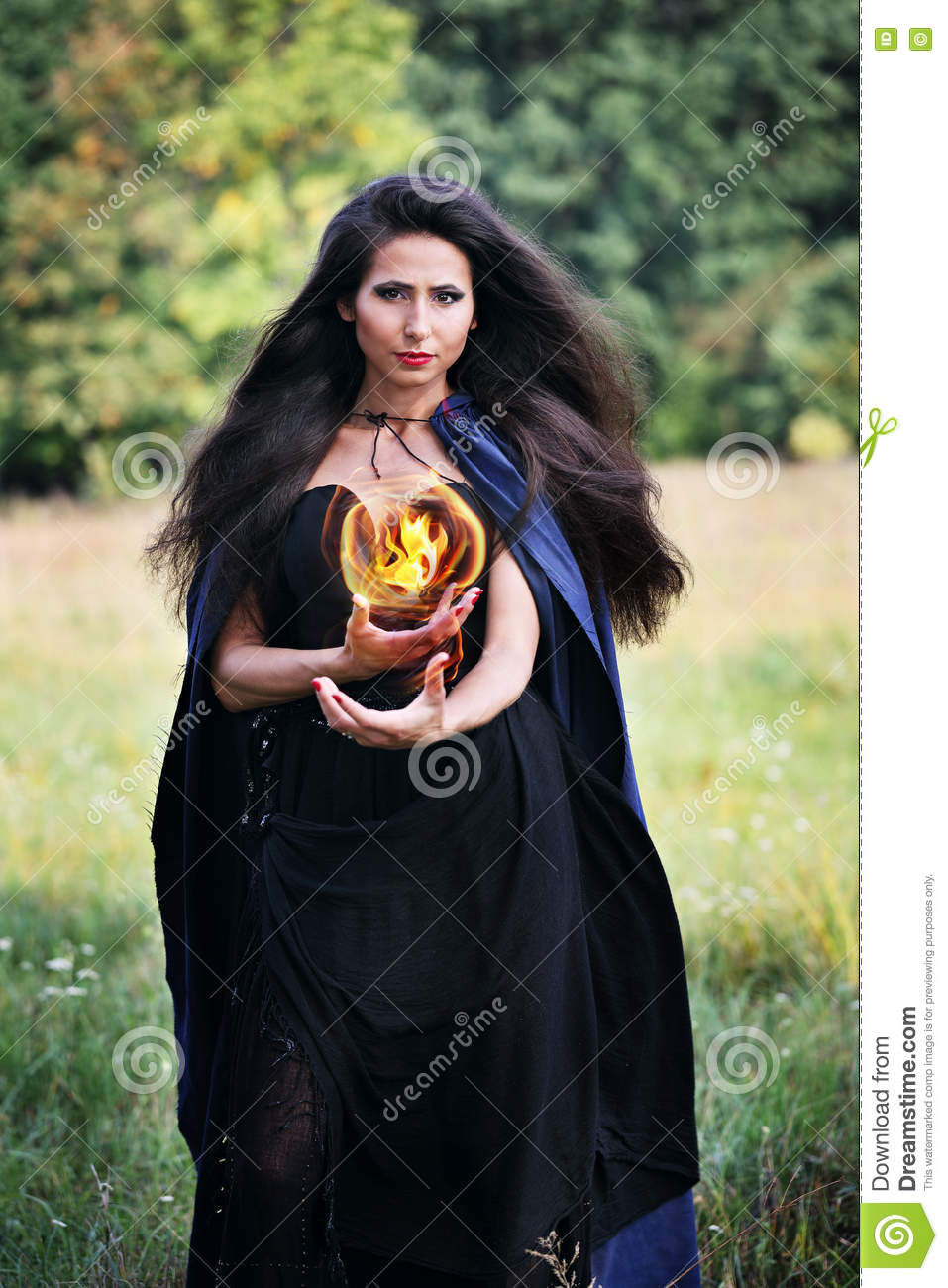 Witch holding a fireball stock photo. Image of glamour - 75898116 for Holding Fireball  193tgx