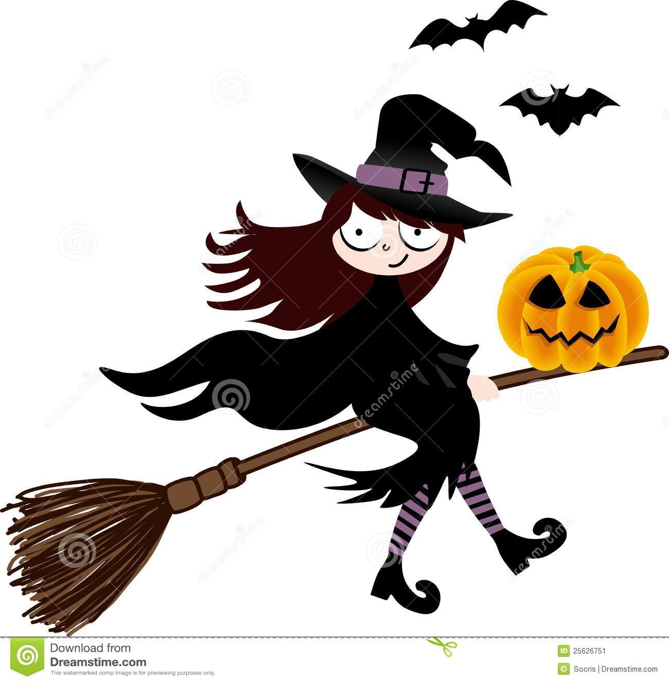 broom halloween isolated pumpkin witch - Flying Halloween Witch