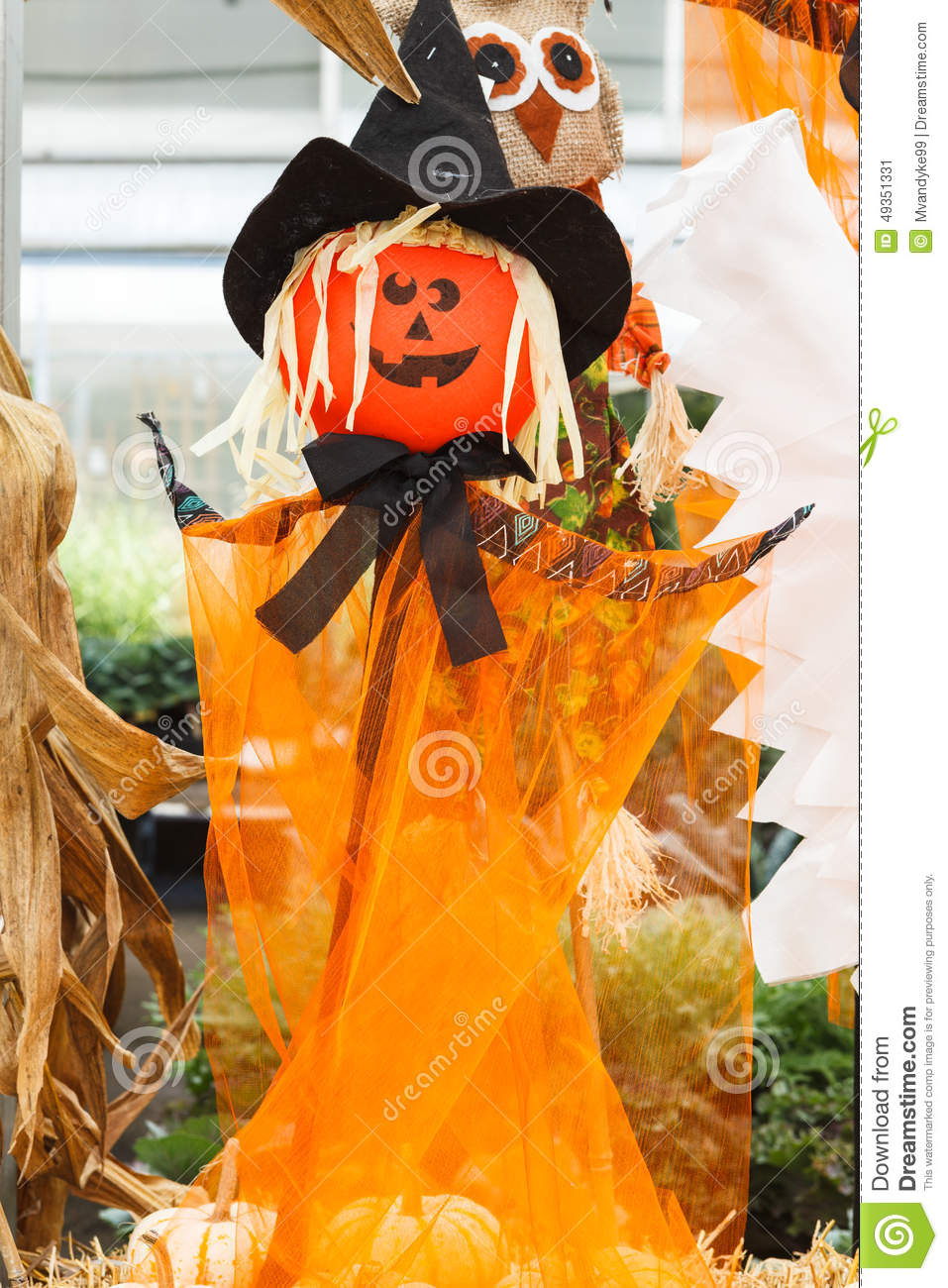 Witch Scarecrow Halloween Stock Photo - Image: 49351331