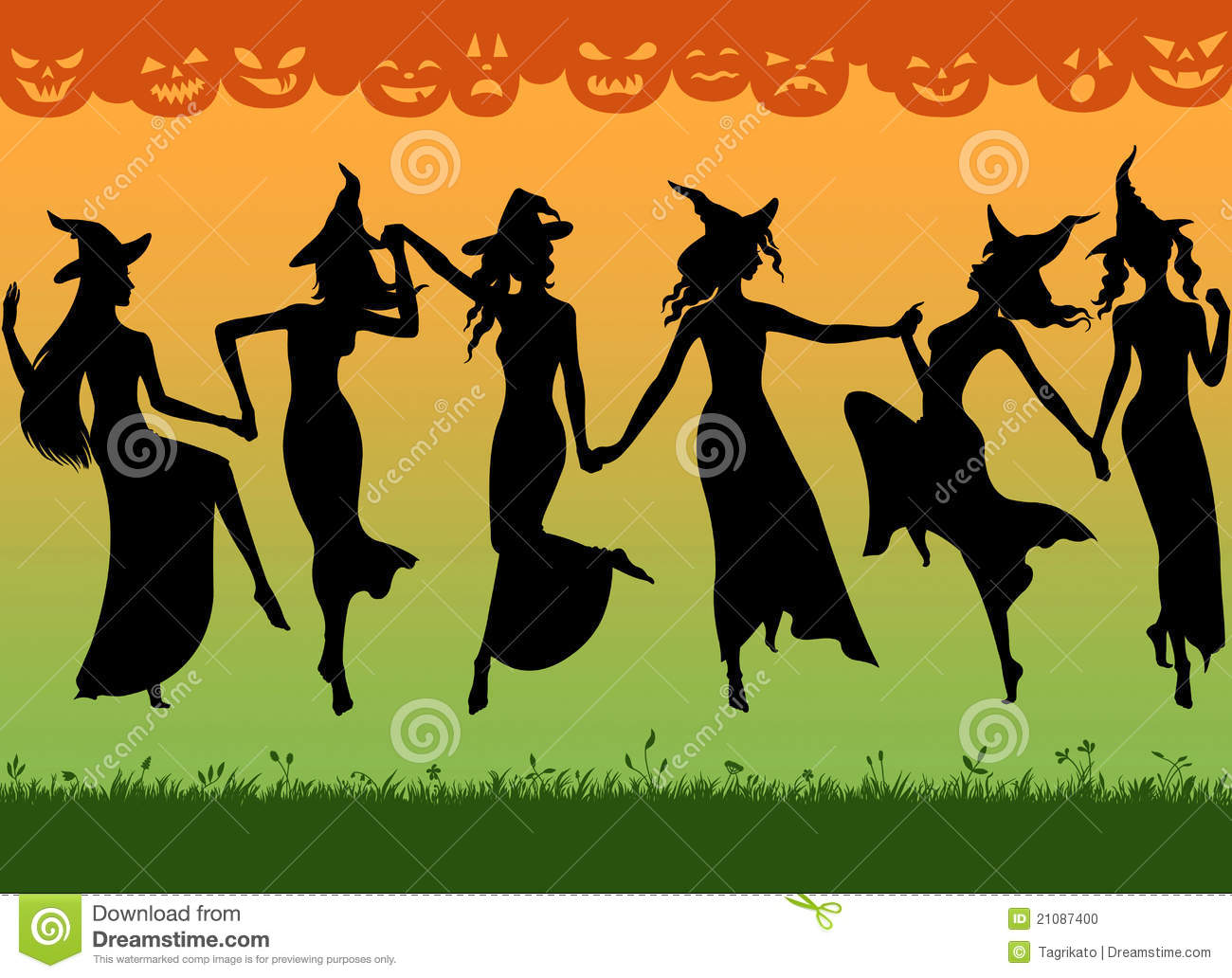 Witches dance stock illustration illustration of women 21087400 witches dance malvernweather Choice Image