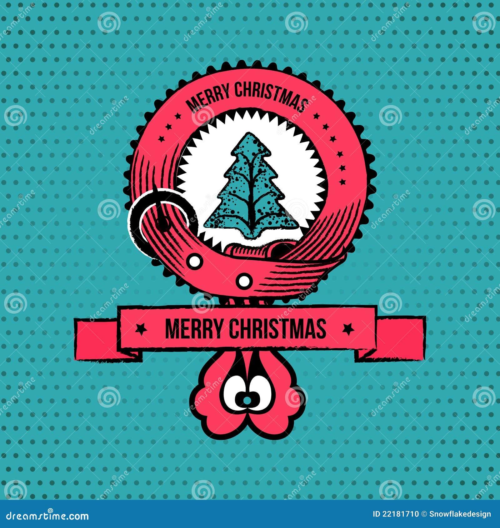 Withchristmas δέντρων ετικετών Χριστ&omicro