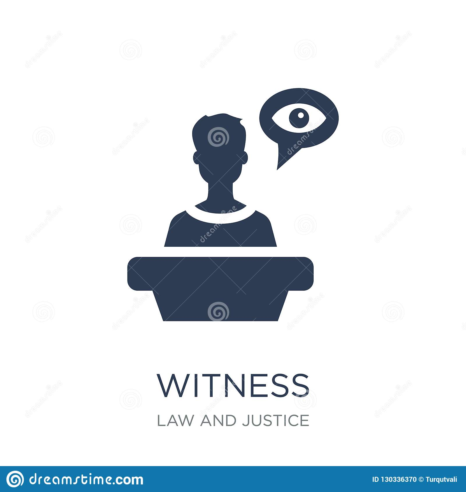 Witness icon. Trendy flat vector Witness icon on white background from law and justice collection
