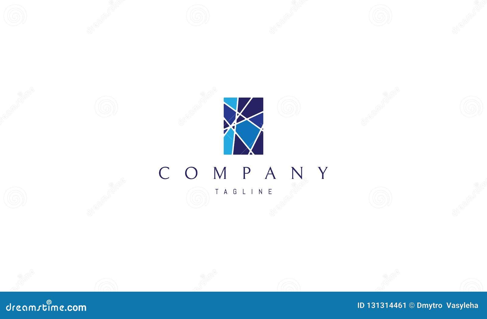 Witrażu okno logo wektorowy wizerunek